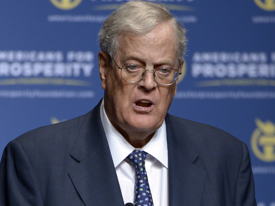 Billionaire donor David Koch has said he is stepping down from his business and political roles over health concerns. (Phelan M. Ebenhack/AP)