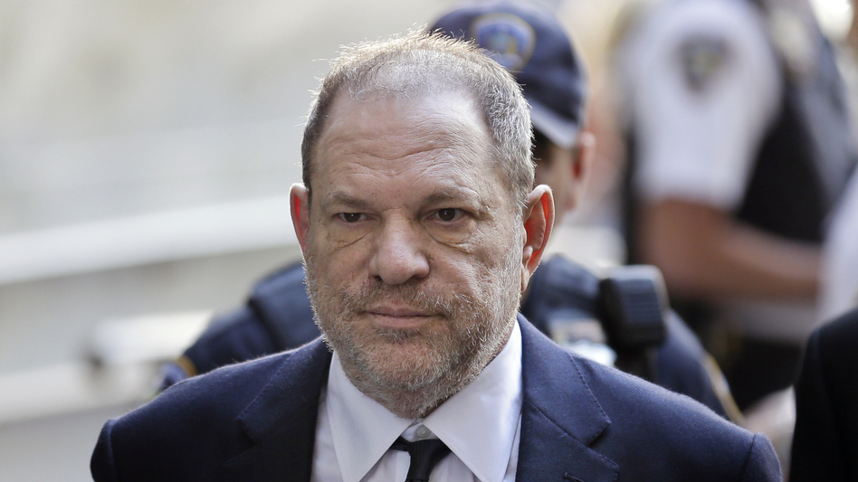 Harvey Weinstein arriving to court in New York City on Tuesday where he pleaded not guilty to rape and criminal sex act charges. (Seth Wenig/AP)