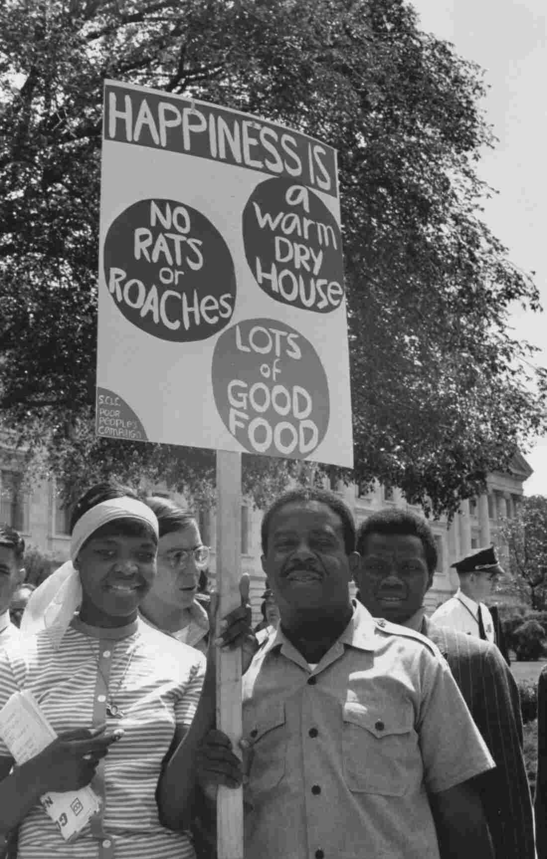 "The Rev. Ralph Abernathy leads a ""Poor People's Campaign"" demonstration in Washington, D.C."