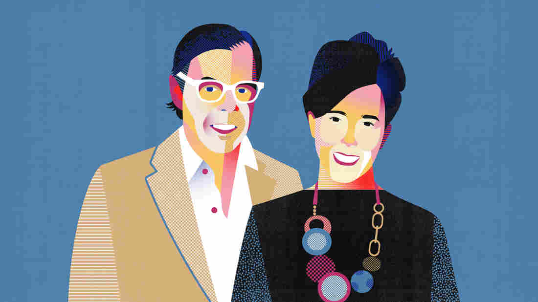 Founders of the Kate Spade brand, Kate & Andy Spade.