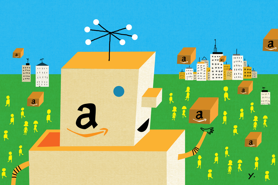 Close to two-thirds of Americans say they've bought something on Amazon, according to a new NPR/Marist poll. That's more than 90 percent of America's online shoppers. (James Yang for NPR)