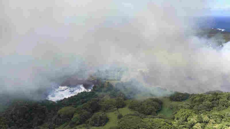 Lava From Kilauea Boils Away Freshwater Lake In Hawaii