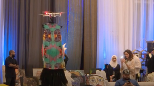 Dresses Flutter On Drones In Saudi Fashion Show, But Critics Aren't Buying It