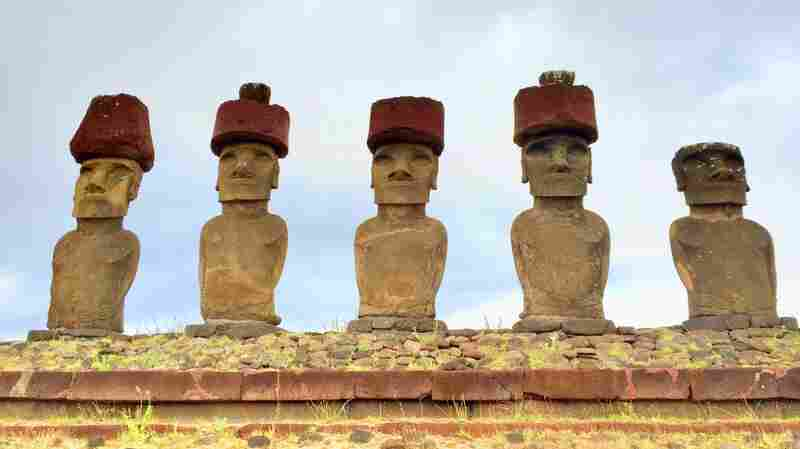 How Did Easter Islanders Lift Statues' 13-Ton Hats? Researchers May Have The Answer