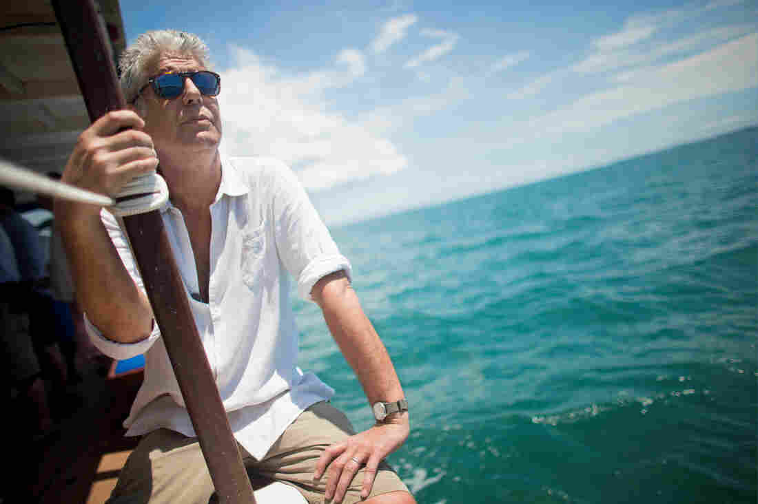 Anthony Bourdain seemed 'cheerful' at work this week, says an onlooker