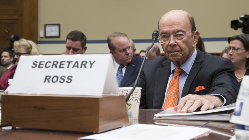 Image result for photos of kris kobach wilbur ross