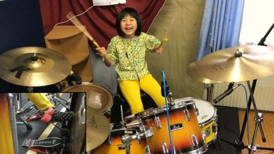 Yoyoka Soma, an 8-year-old drummer from Japan, loves herself some John Bonham.