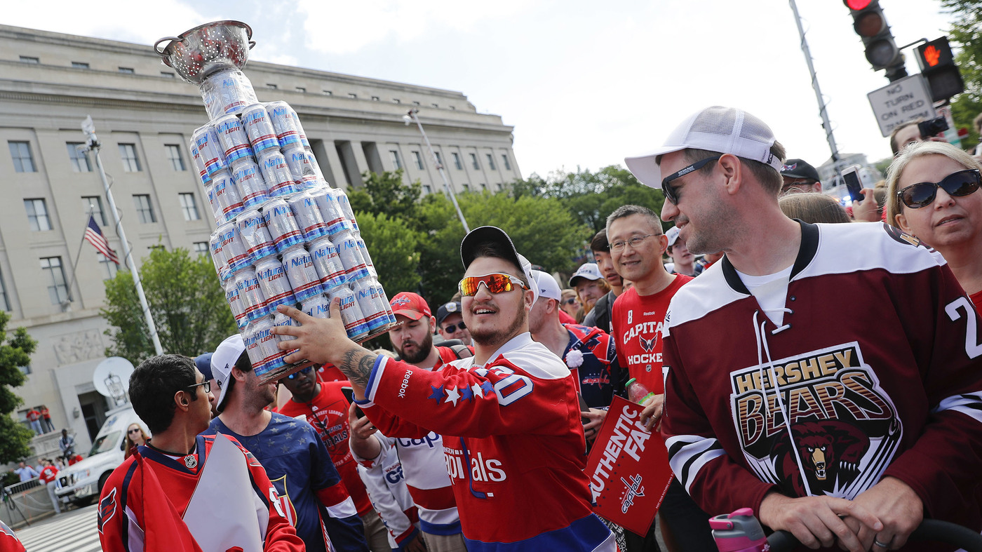 72ba23890d0 Washington Capitals Fans Fill The Streets With Red To Celebrate Stanley Cup  Win   NPR