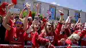 Washington Capitals Fans Fill The Streets With Red To Celebrate Stanley Cup Win