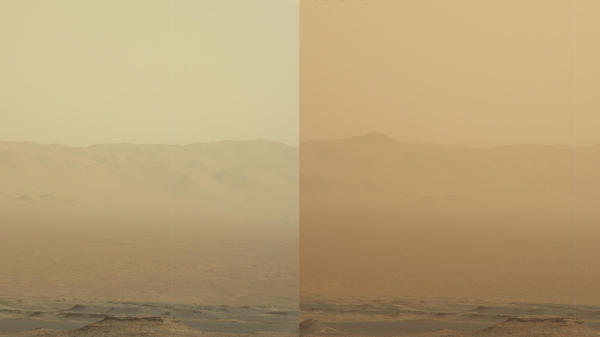 These two views from NASA
