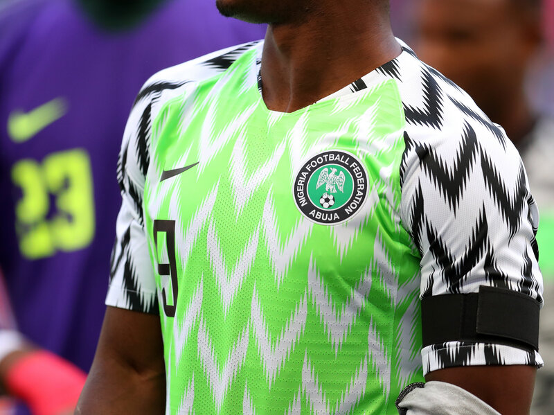 7d631e11de1 Enlarge this image. Nigeria s jersey for the 2018 World Cup Catherine  Ivill Getty Images ...
