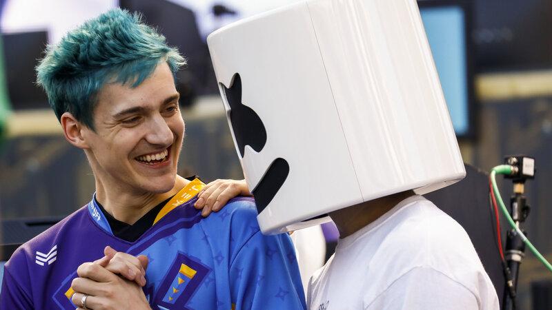 marshmello wins fortnite tourney raises 1 million for charity thanks to a ninja - fortnite pro am video