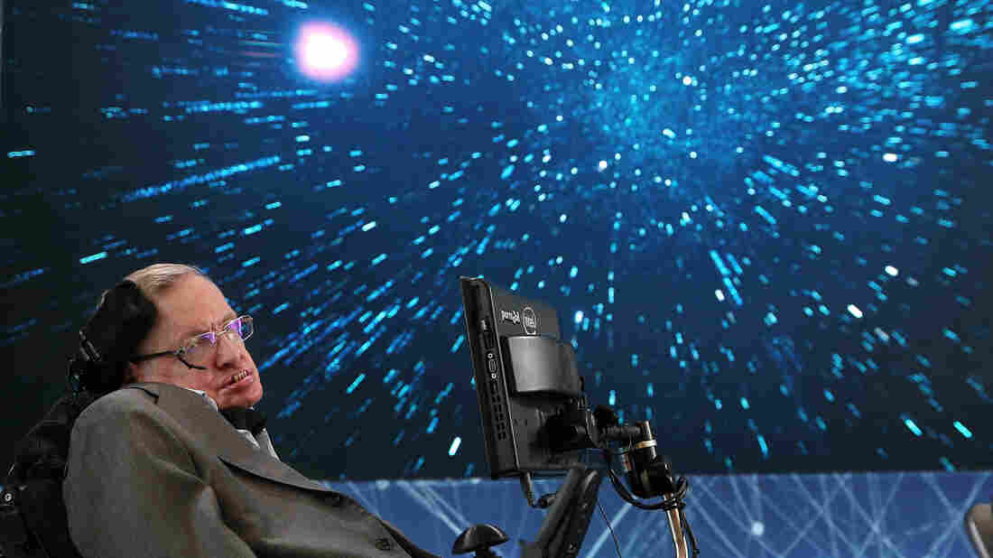 Stephen Hawking's voice beamed into space at final send-off