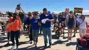 Hundreds March To Texas Tent City Holding Detained Immigrant Kids