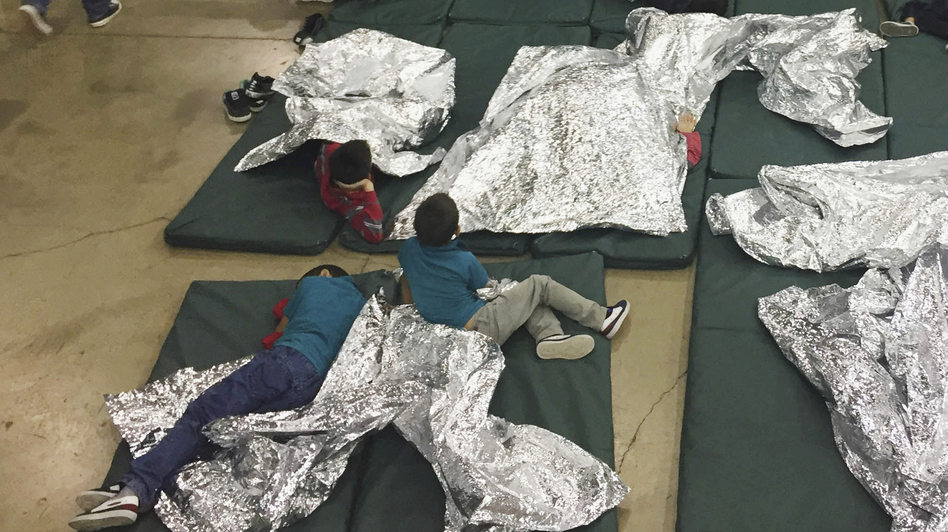 A photo provided by U.S. Customs and Border Protection shows the interior of a CBP facility in McAllen, Texas, on Sunday. Immigration officials have separated thousands of families who crossed the border illegally. Reporters taken on a tour of the facility were not allowed by agents to interview any of the detainees or take photos, the AP reported. (U.S. Customs and Border Protection's Rio Grande Valley Sector via AP)