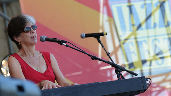 NEW ORLEANS, LA - MAY 04: Marcia Ball performs during the 2012 New Orleans Jazz & Heritage Festival - Day 5 at the Fair Grounds Race Course on May 4, 2012 in New Orleans, Louisiana. (Photo by Rick Diamond/Getty Images)