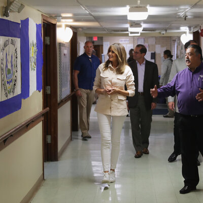 First Lady Melania Trump Visits Border Detention Facility In Texas