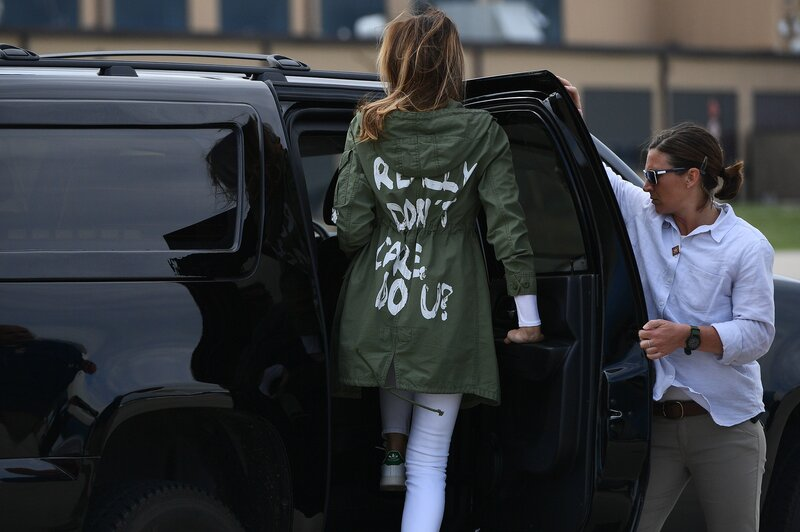 b973a785921 What s Up With Melania Trump s  I REALLY DON T CARE. DO U   Jacket ...