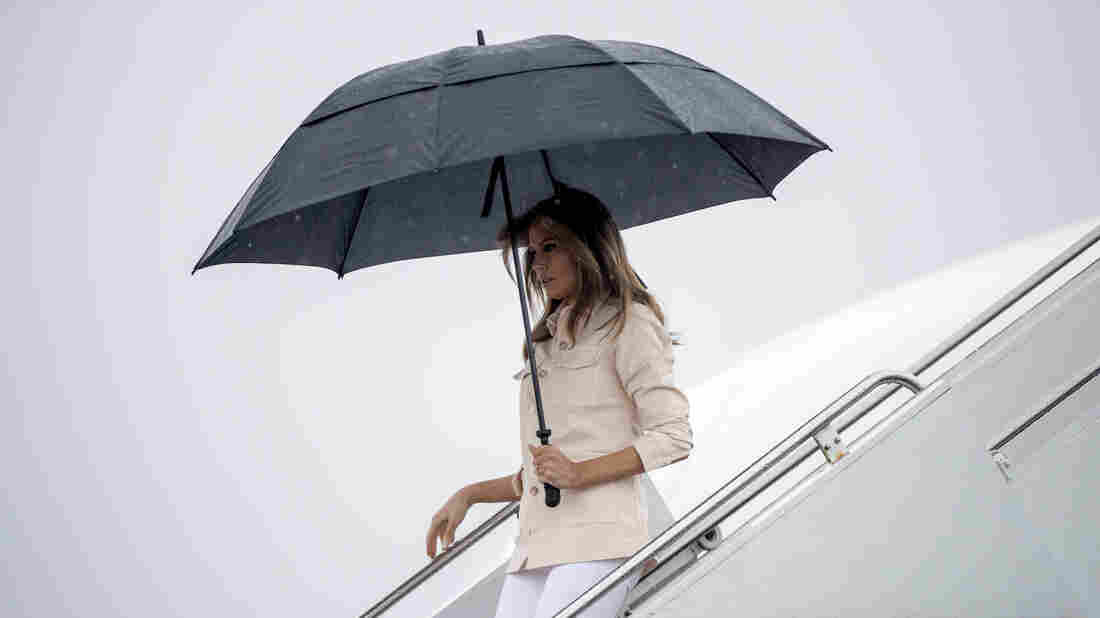 There are no accidents in Melania Trump's wardrobe choices