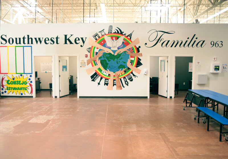 Image result for photos of shelters caring for detained migrant children
