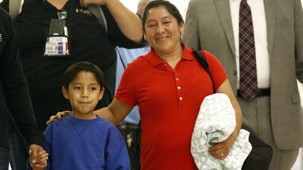 Mother And Son Reunite At Airport; U.S. Had Split Them Because Of Migrant Status