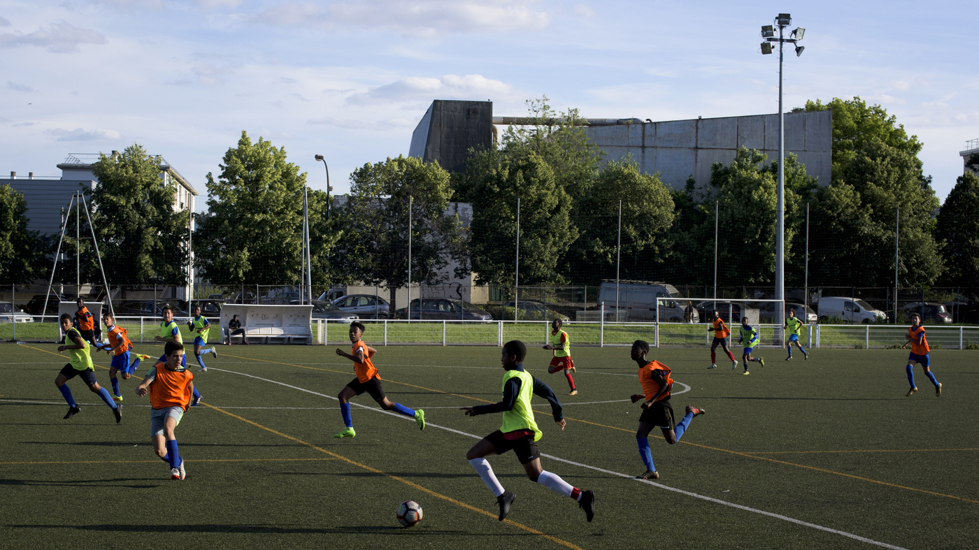 0f676f4b150 France's World Cup Team Brings Positive Attention To Suburban Fans : NPR