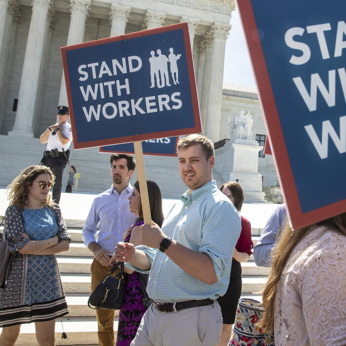 Supreme Court Deals Blow To Government Unions