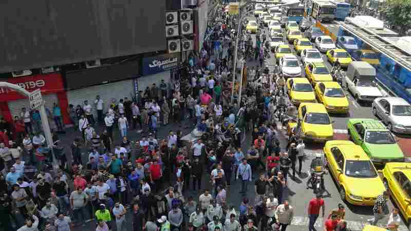 In Tehran, Economic Protests Flare As Iran's Currency Plunges