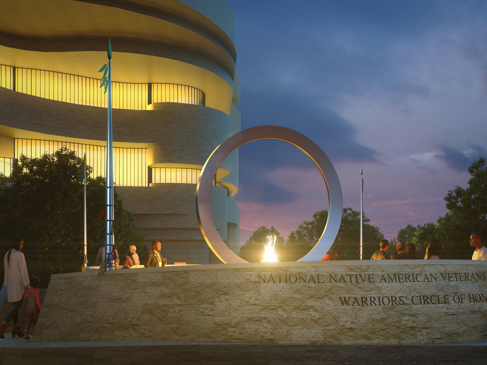 The multimedia artist Harvey Pratt's <em>Warriors' Circle of Honor</em> will incorporate an enormous, upright stainless steel circle.