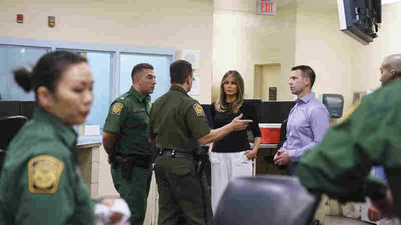Melania Trump Travels To Arizona To Visit Migrant Detention Facilities