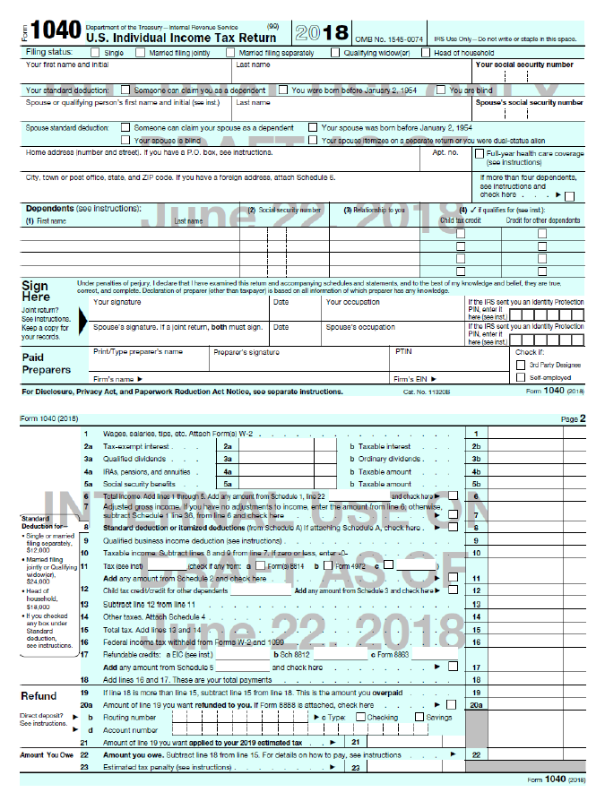 Trumps New Irs Postcard Is Not So Simple And Not Really A