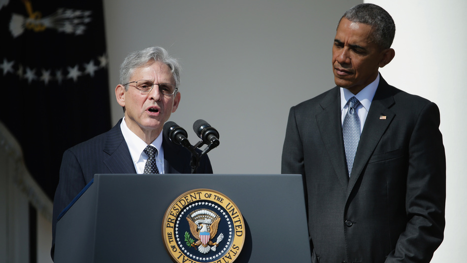 Merrick Garland was nominated to the Supreme Court by President Barack Obama in March 2016. The Senate never voted on his nomination. (Chip Somodevilla/Getty Images)
