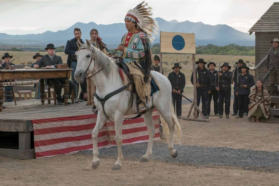 "In portraying the great historical figure Sitting Bull, actor Michael Greyeyes says that he is playing ""a hero to indigenous people around the world."""