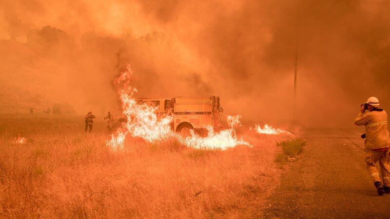 wildfires spread in northern california npr