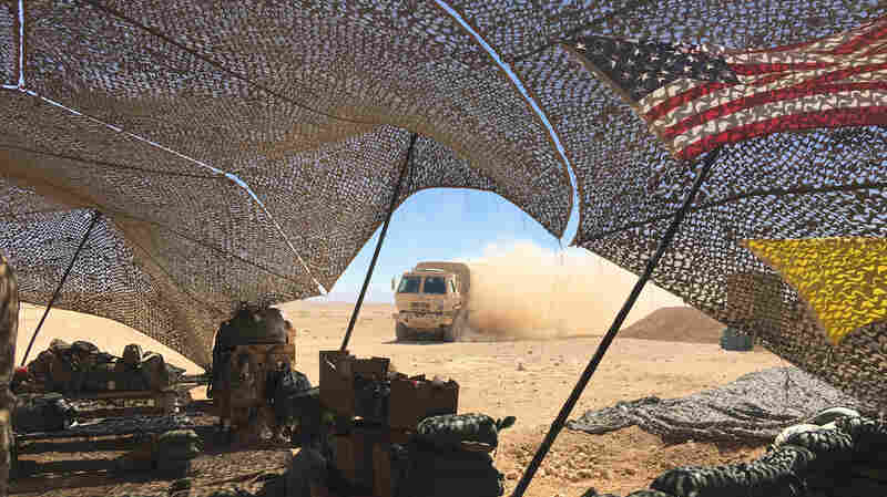 From Deep In The Iraqi Desert, A New U.S. Fire Base Targets ISIS In Syria