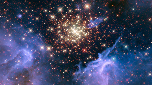 NASA has released a fireworks-like image of a nebula in the constellation Carina.
