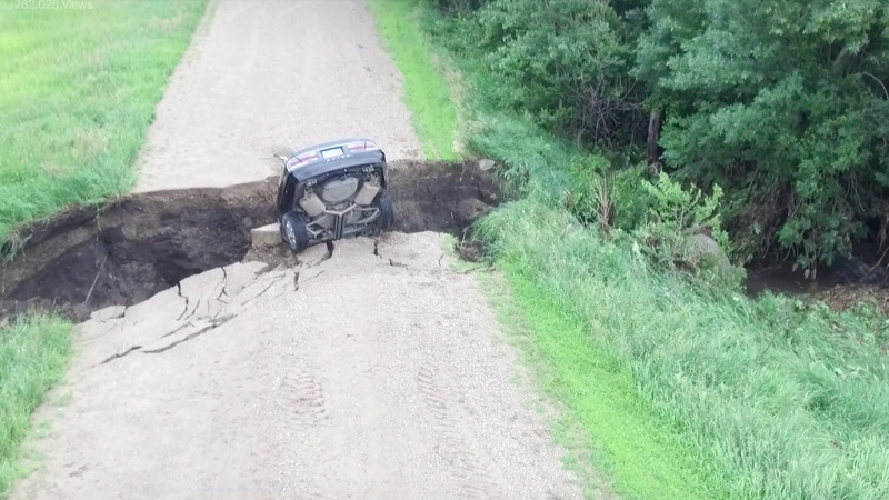 Minnesota Teen Drives Straight Into Gaping Chasm In The Ground, Survives