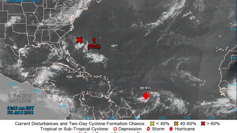 Beryl Becomes 'Very Tiny' First Hurricane Of Atlantic Season