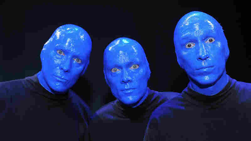 Phil Stanton (from left) Chris Wink and Matt Goldman are the founders of Blue Man Group.
