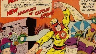 Cover of Captain Atom #78 (December 1965). Co-created by Steve Ditko, the nuclear-powered hero left a wake of ... stars? Sparkles? Glitter? ... in his fabulous wake.