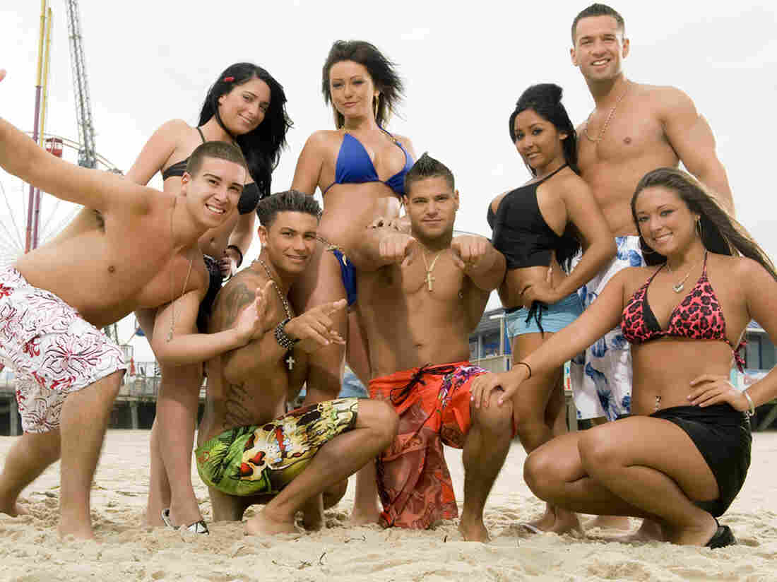 "MTV's Jersey Shore starred, from left, Vinny Guadagnino, Angelina Pivarnick, Paul ""DJ Pauly D"" DelVecchio, Jenni ""JWOWW"" Farley, Ronnie Magro, Nicole ""Snooki"" Polizzi, Mike ""The Situation"" Sorrentino and Sammi ""Sweetheart"" Giancol"