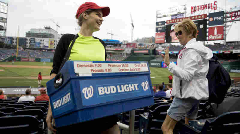 She Sells Beer And Brings Cheer To Fans In D.C.'s Baseball Stands
