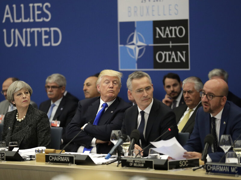 Image result for photos of trump at nato