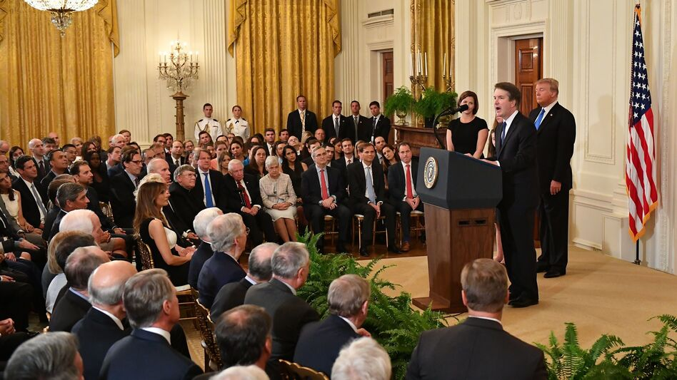 Many considered Brett Kavanaugh the front-runner to replace Justice Anthony Kennedy, even before Kennedy announced his retirement. Despite his credentials, Kavanaugh still met resistance within Trump world. (Mandel Ngan/AFP/Getty Images)
