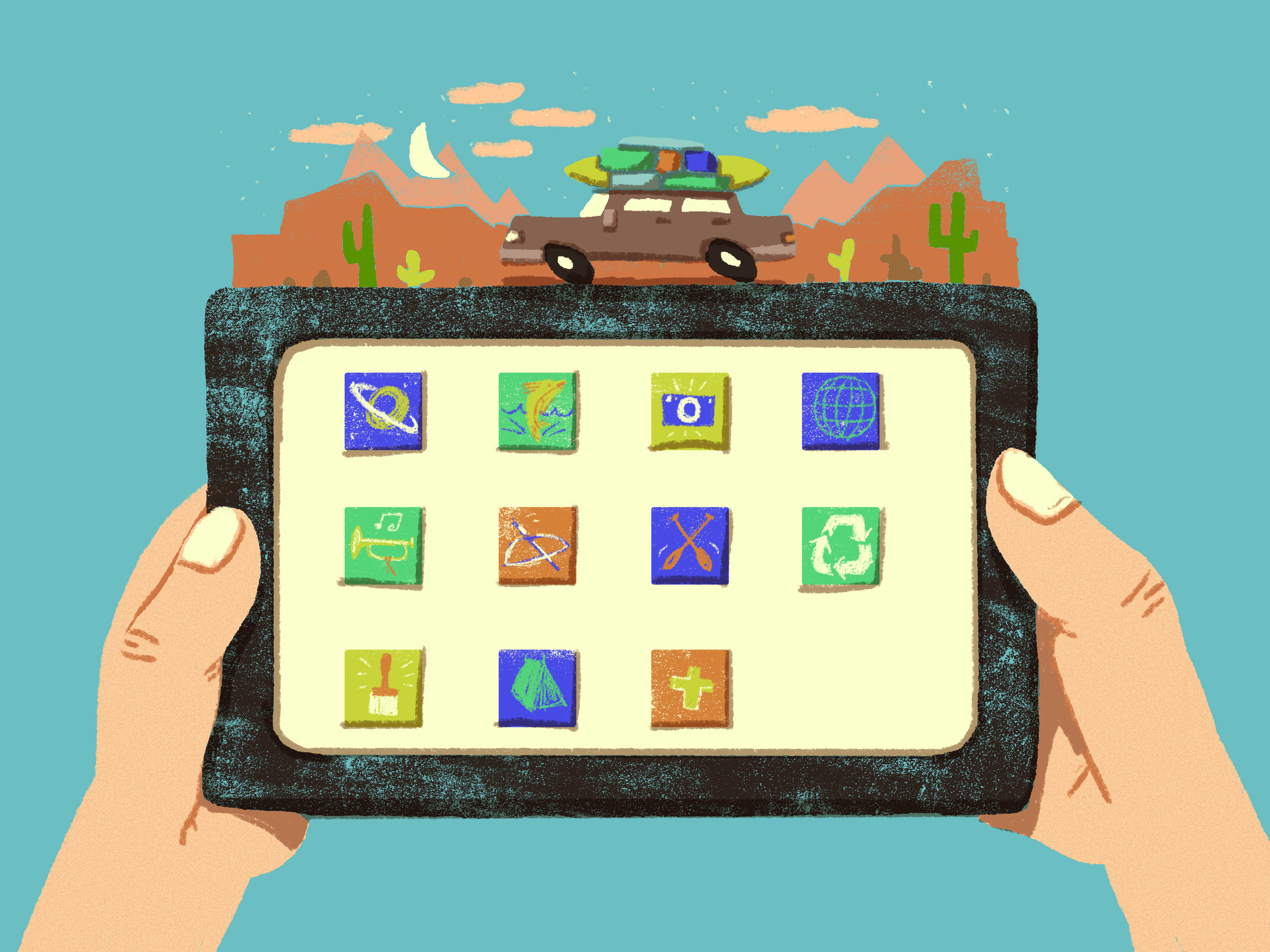 Parents: Here's How To Pick The Best Kids Apps For Family Vacations