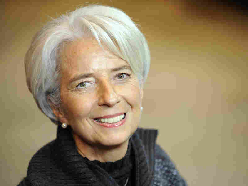 Christine Lagarde arrives at the EU headquarters in Brussels on Dec. 8, 2011.