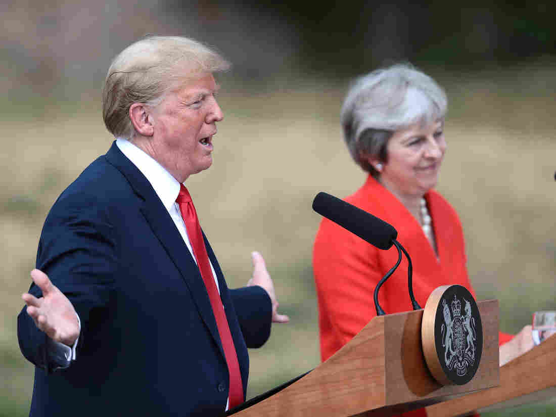 Trump's United Kingdom  trip: London sees peaceful protests; placard calls Trump 'orange tangerine'