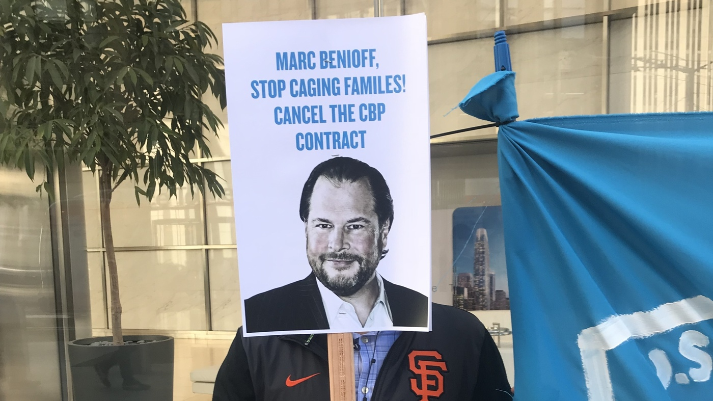 Tech Workers Demand CEOs Stop Doing Business With ICE, Other U.S. Agencies: Tech workers from Salesforce, Microsoft, Amazon and Google have been putting pressure on their CEOs to cut ties and end contracts with U.S. Immigration and Customs Enforcement, known as ICE, and other government agencies.
