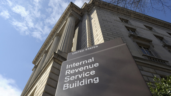 A 2013 file photo of the Internal Revenue Service building in Washington, DC. New rules issued by the agency say that politically active nonprofits no longer have to disclose their donors to the IRS.