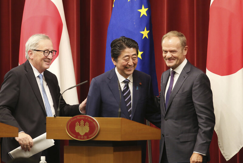 In Face Of Protectionism Eu And Japan Sign Huge Open Trade Deal Npr